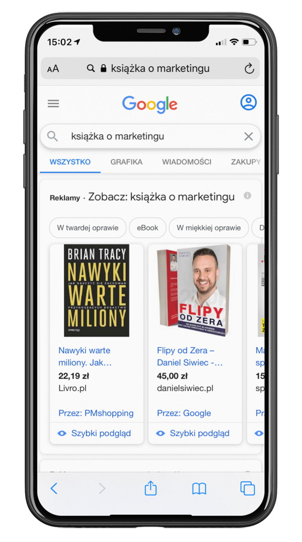 Reklama produktowa w Google Shopping Ads